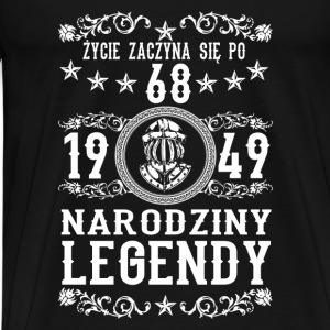 1949- 68 lat - Legendy - 2017 - PL Sportsklær - Premium T-skjorte for menn
