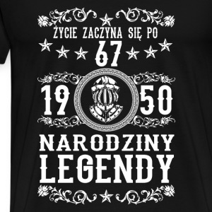 1950- 67 lat - Legendy - 2017 - PL Tops - Männer Premium T-Shirt