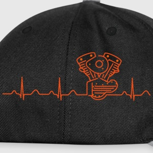 Tasse, Shovelhead, early Shovel, Heartbeat Design - Snapback Cap