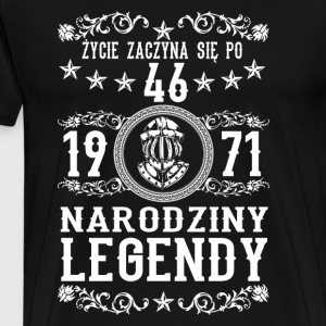1971 - 46 lat - Legendy - 2017 - PL Sweatshirts - Herre premium T-shirt