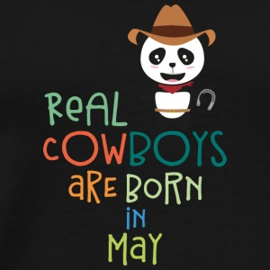 Real Cowboys are born in May Sghtr Sports wear - Men's Premium T-Shirt
