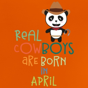 Real Cowboys are born in April S2n9h Shirts - Baby T-Shirt