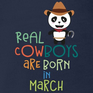 Real Cowboys are born in March Sn2d9 Shirts - Organic Short-sleeved Baby Bodysuit