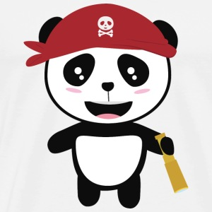 Panda Pirate with spyglass Si5wy Other - Men's Premium T-Shirt
