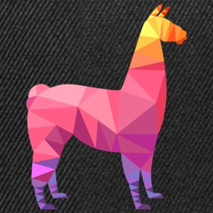 Llama Low Poly | Cool Geometric Design Tee shirts - Casquette snapback