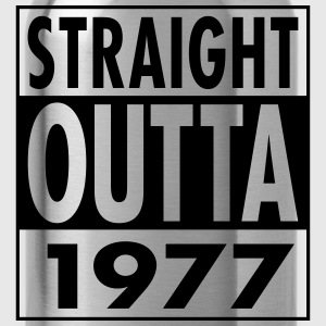 Straight Outta 1977 Funny 40th Birthday Gift T-Shirts - Water Bottle
