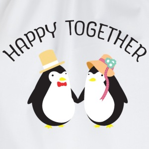 Happy Together | Cute Penguin Couple T-Shirts - Turnbeutel