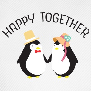 Happy Together | Cute Penguin Couple T-Shirts - Baseballkappe