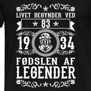 1934 - 83 ar - Legender - 2017 - DK Tops - Men's Premium T-Shirt