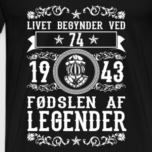 1943 - 74 ar - Legender - 2017 - DK Tops - Men's Premium T-Shirt