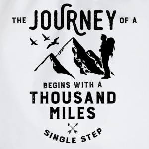The journey of a thousand miles T-Shirts - Drawstring Bag