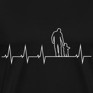 Father and son - heartbeat Tops - Men's Premium T-Shirt