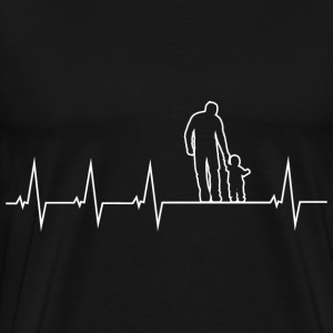 Father and son - heartbeat Hoodies & Sweatshirts - Men's Premium T-Shirt