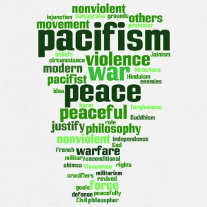 pacifism (peace, not war) Mugs & Drinkware - Men's Premium T-Shirt