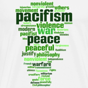 pacifism (peace, not war) Bags & Backpacks - Men's Premium T-Shirt