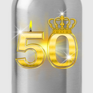50 - Birthday - Queen - Gold Koszulki - Bidon