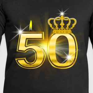 50 - Birthday - Queen - Gold Langarmede T-skjorter - Sweatshirts for menn fra Stanley & Stella