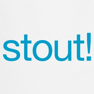 Rood Stout! Baby body - Keukenschort