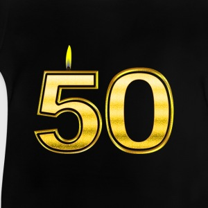 50 - Birthday - Queen - Gold - Flame Skjorter - Baby-T-skjorte
