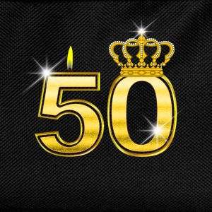 50 - Birthday - Queen - Gold - Flame & Crown Camisetas de manga larga bebé - Mochila infantil