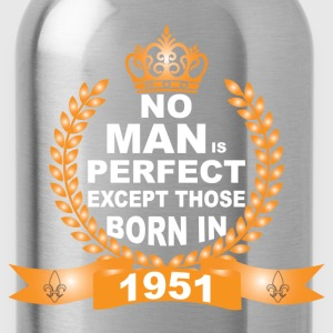 No Man is Perfect Except Those Born in 1951 T-Shirts - Water Bottle