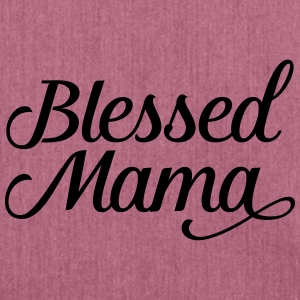 Blessed Mama | Mothers Day Gift Design T-Shirts - Schultertasche aus Recycling-Material