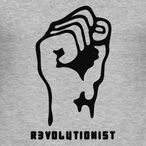 Heather grey faust_revolutionist_1f Jumpers - Men's Slim Fit T-Shirt