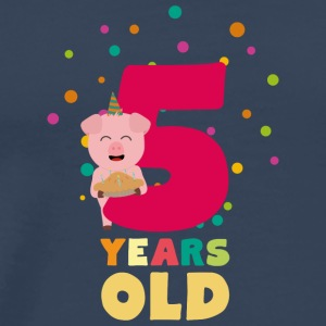 Five Years old fifth Birthday Party Se6bl Sports wear - Men's Premium T-Shirt