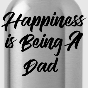 Happiness is being a Dad T-shirts - Vattenflaska