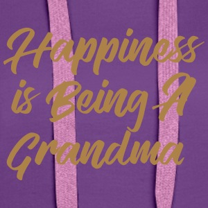 Happiness is being a Grandma T-Shirts - Women's Premium Hoodie