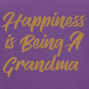 Happiness is being a Grandma T-Shirts - Women's Premium Tank Top