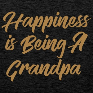 Happiness is being a Grandpa T-Shirts - Men's Premium Tank Top