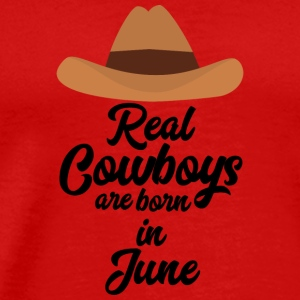 Real Cowboys are bon in June Spld4 Long Sleeve Shirts - Men's Premium T-Shirt