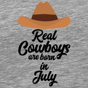 Real Cowboys are bon in July S6xpq Sports wear - Men's Premium T-Shirt