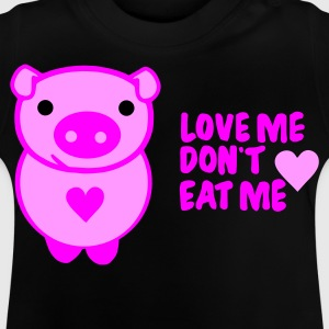 Schwarz love! dont eat Kinder T-Shirts - Baby T-Shirt