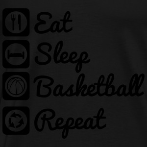 Eat,sleep,basketball,repeat,Basketballer - Men's Premium T-Shirt