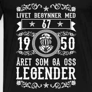 1950 - 67 ar - Legender - 2017 - NO Topper - Premium T-skjorte for menn
