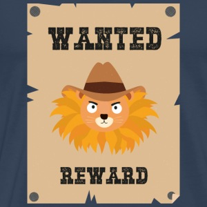 Wanted Wildwest lion poster Stg7j Autres - T-shirt Premium Homme
