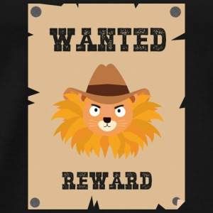 Wanted Wildwest lion poster Sinxg Débardeurs - T-shirt Premium Homme