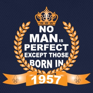 No Man is Perfect Except Those Born in 1957 T-Shirts - Baseball Cap