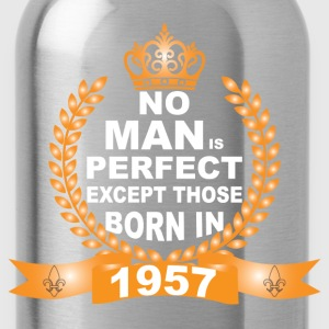 No Man is Perfect Except Those Born in 1957 T-Shirts - Water Bottle