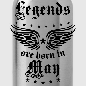 Legends are born in May Birthday Geburtstag T-Shir - Trinkflasche