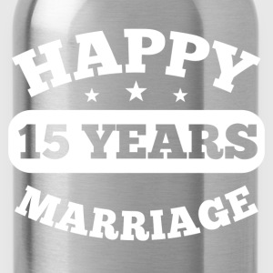 15 Years Happy Marriage T-Shirts - Trinkflasche