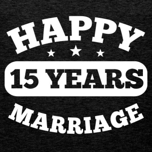 15 Years Happy Marriage T-Shirts - Männer Premium Tank Top