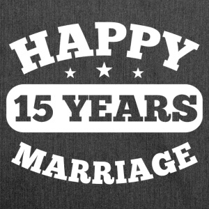 15 Years Happy Marriage T-Shirts - Schultertasche aus Recycling-Material