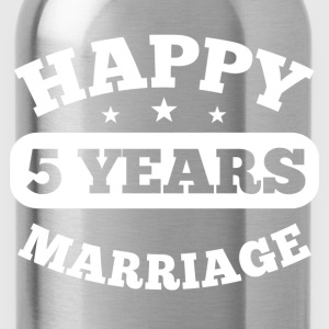 5 Years Happy Marriage T-Shirts - Trinkflasche