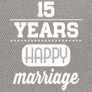 15 Years Happy Marriage T-Shirts - Snapback Cap