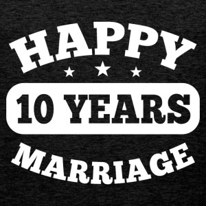 10 Years Happy Marriage T-Shirts - Männer Premium Tank Top