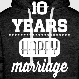 10 Years Happy Marriage T-Shirts - Männer Premium Hoodie