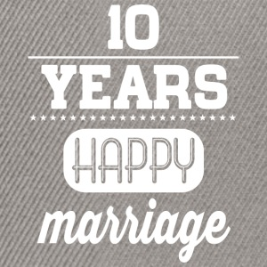 10 Years Happy Marriage T-Shirts - Snapback Cap